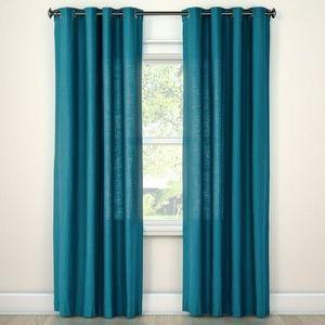 Turquoise Textured Curtain Panel